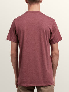 Collide Short Sleeve Tee In Crimson, Back View