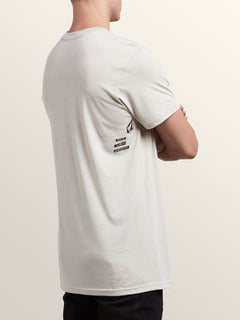 Removed Short Sleeve Tee In Oatmeal, Back View