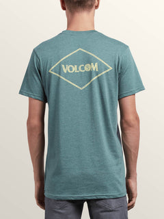 Center Short Sleeve Pocket Tee In Pine, Back View
