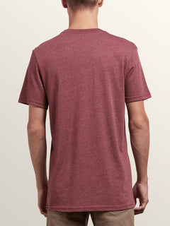 Positive Short Sleeve Tee In Crimson, Back View