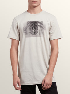 Positive Short Sleeve Tee In Oatmeal, Front View