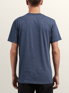 Macaw Short Sleeve Pocket Tee In Navy, Back View
