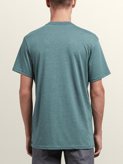 Macaw Short Sleeve Pocket Tee In Pine, Back View