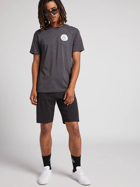 Spiral Out Short Sleeve Tee - Heather Black (A5731906_HBK) [2]