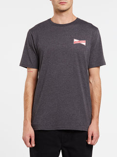 Vee-Bow Short Sleeve Tee - Heather Black (A5732001_HBK) [F]