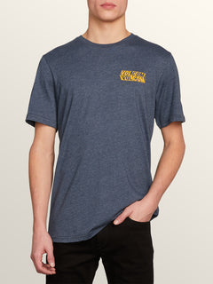 Bend Short Sleeve Tee In Navy, Front View