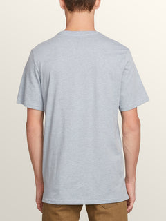 Cycle Stone Short Sleeve Tee In Arctic Blue, Back View