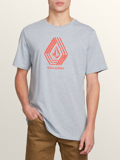 Cycle Stone Short Sleeve Tee In Arctic Blue, Front View