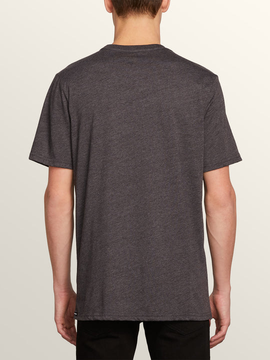 Cycle Stone Short Sleeve Tee In Heather Black, Back View