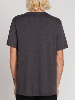 Vpp Photo Short Sleeve Pocket Tee In Heather Black, Back View