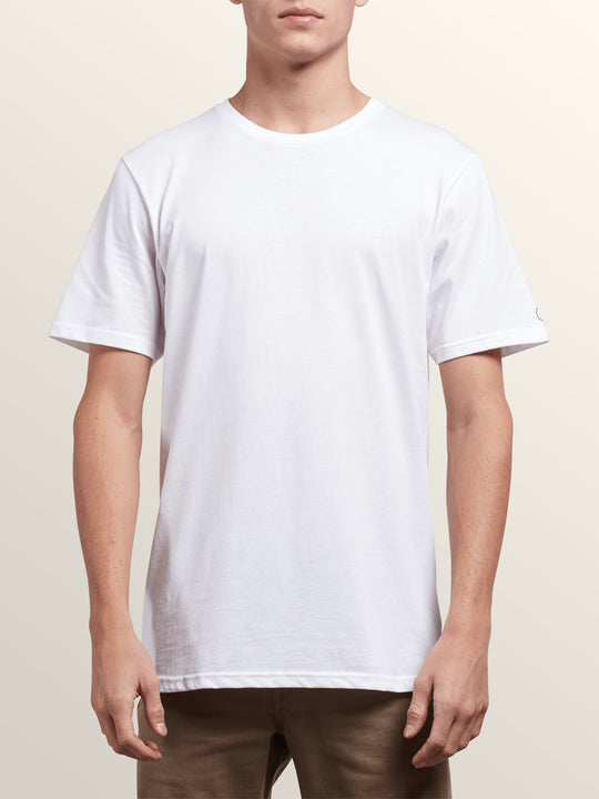 3 Pack Solid Short Sleeve Tees In White, Alternate View