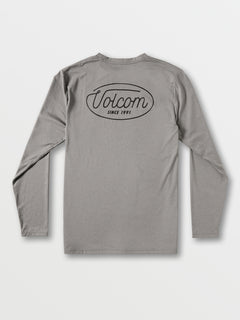 Lit Long Sleeve UPF 50 Rashguard - Grey (A9312001_GRY) [B]