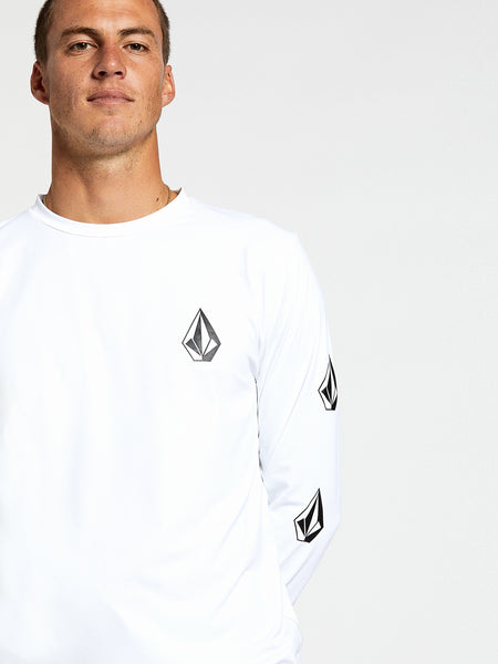 Deadly Stones Long Sleeve UPF 50 Rashguard - White