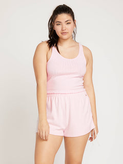 Lived In Lounge Tank In Blush Pink, Front Extended Size View
