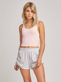 Lived In Lounge Tank In Blush Pink, Front View