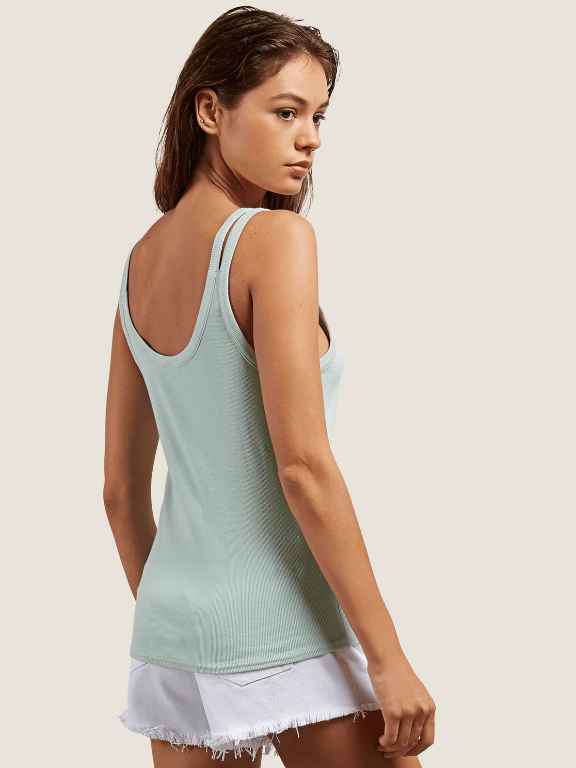 Cactus Ridge Tank In Mint, Back View