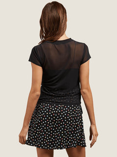 Cher Ray Tee In Black, Back View