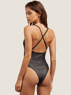 Cher Ray Bodysuit In Black, Back View