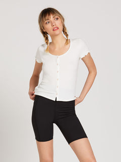 Lived In Lounge Short Sleeve - Star White (B0122001_SWH) [B]