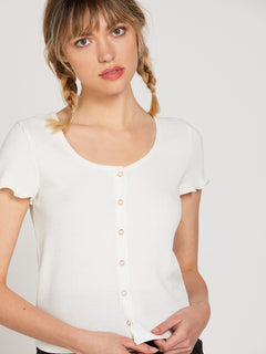 Lived In Lounge Short Sleeve - Star White (B0122001_SWH) [F]