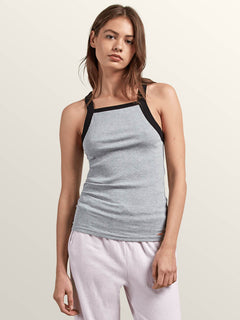 Lived In Lounge Tank In Heather Grey, Front View