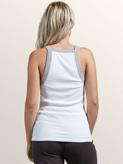 Lived In Lounge Tank In White, Back View