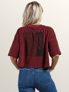 Recommended 4 Me Short Sleeve Tee In Burgundy, Back View