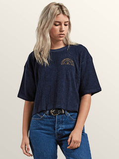 Recommended 4 Me Short Sleeve Tee In Sea Navy, Front View