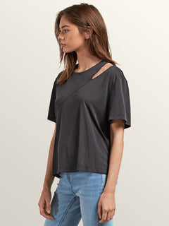 Flomingo Short Sleeve Top In Black, Alternate View