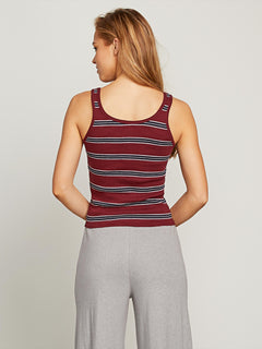 Lived In Lounge Tank In Zinfandel, Back View