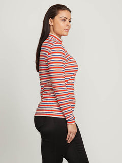 Tail Slide Long Sleeve Top In Tangerine, Alternate Extended Size View