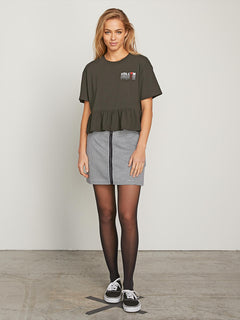 Call Me Frilly Short Sleeve Tee