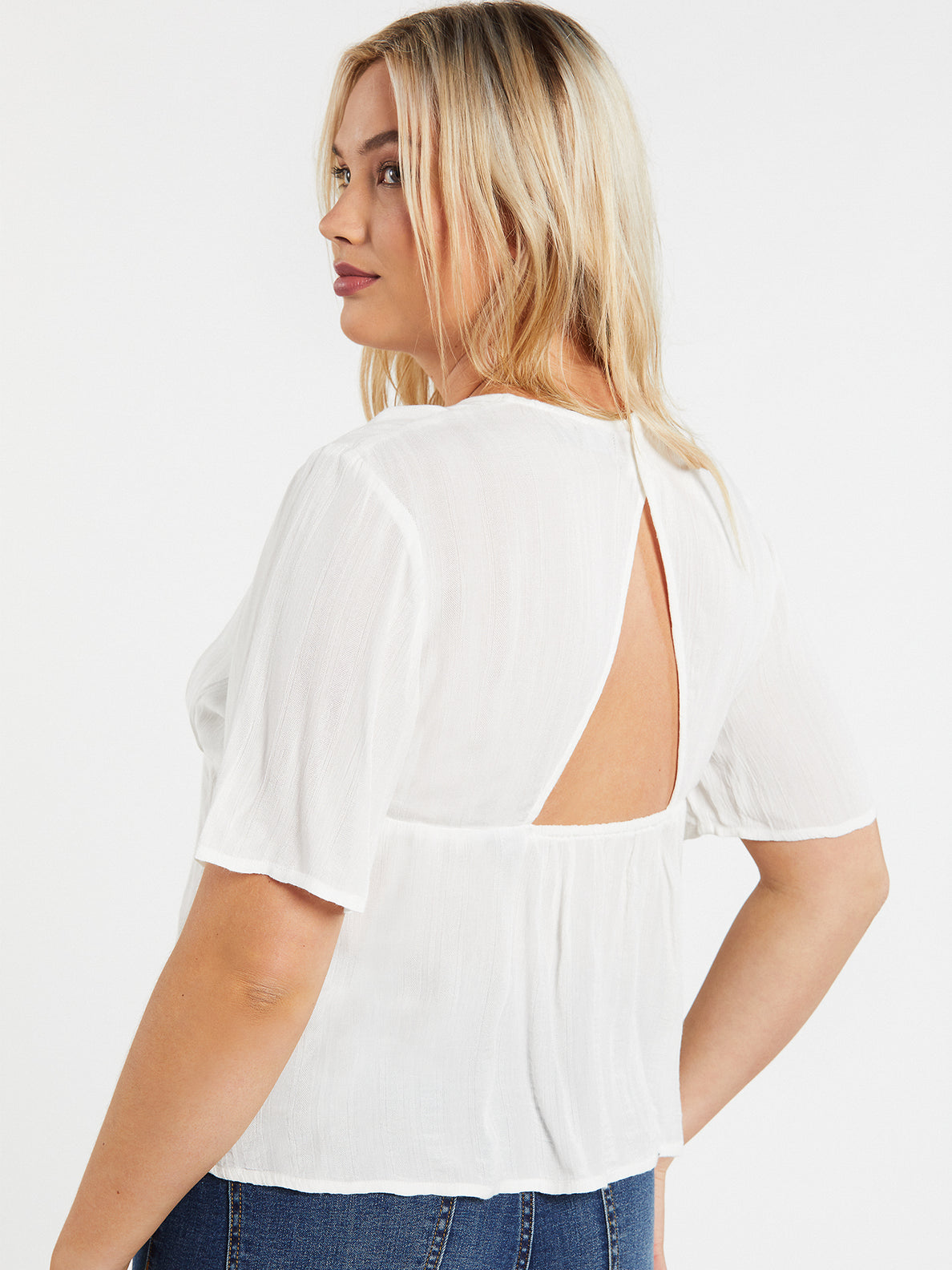 Coco Button Thru Top - Star White (B0432004_SWH) [19]