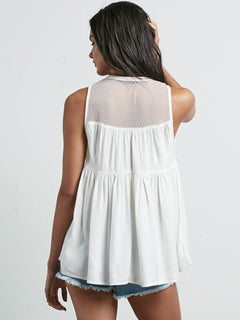 Sea Y'around Top In Star White, Back View