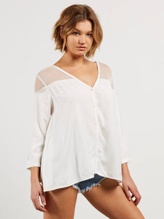 Sea Y'around Long Sleeve Top In Star White, Alternate View