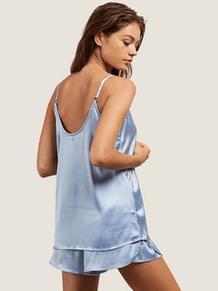 You Want This Top In Misty Blue, Back View