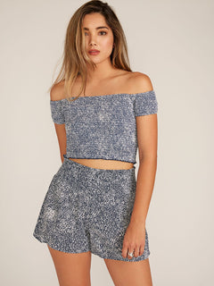 She's So Daisy Top In Vintage Navy, Front View