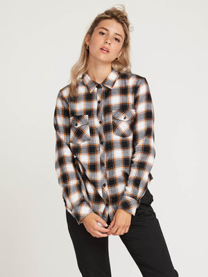 740fdb13 Getting Rad Plaid Long Sleeve Flannel - Black in BLACK - Primary View