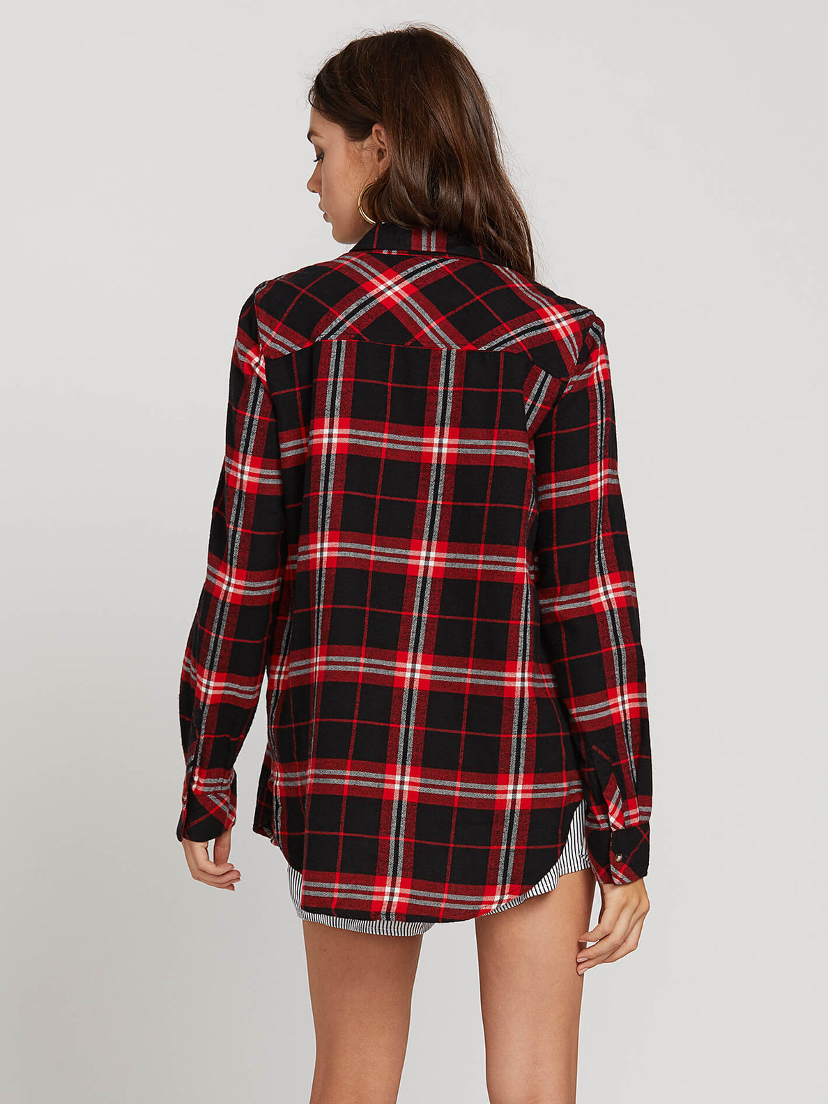 Getting Rad Plaid Ls In Flash Red, Back View