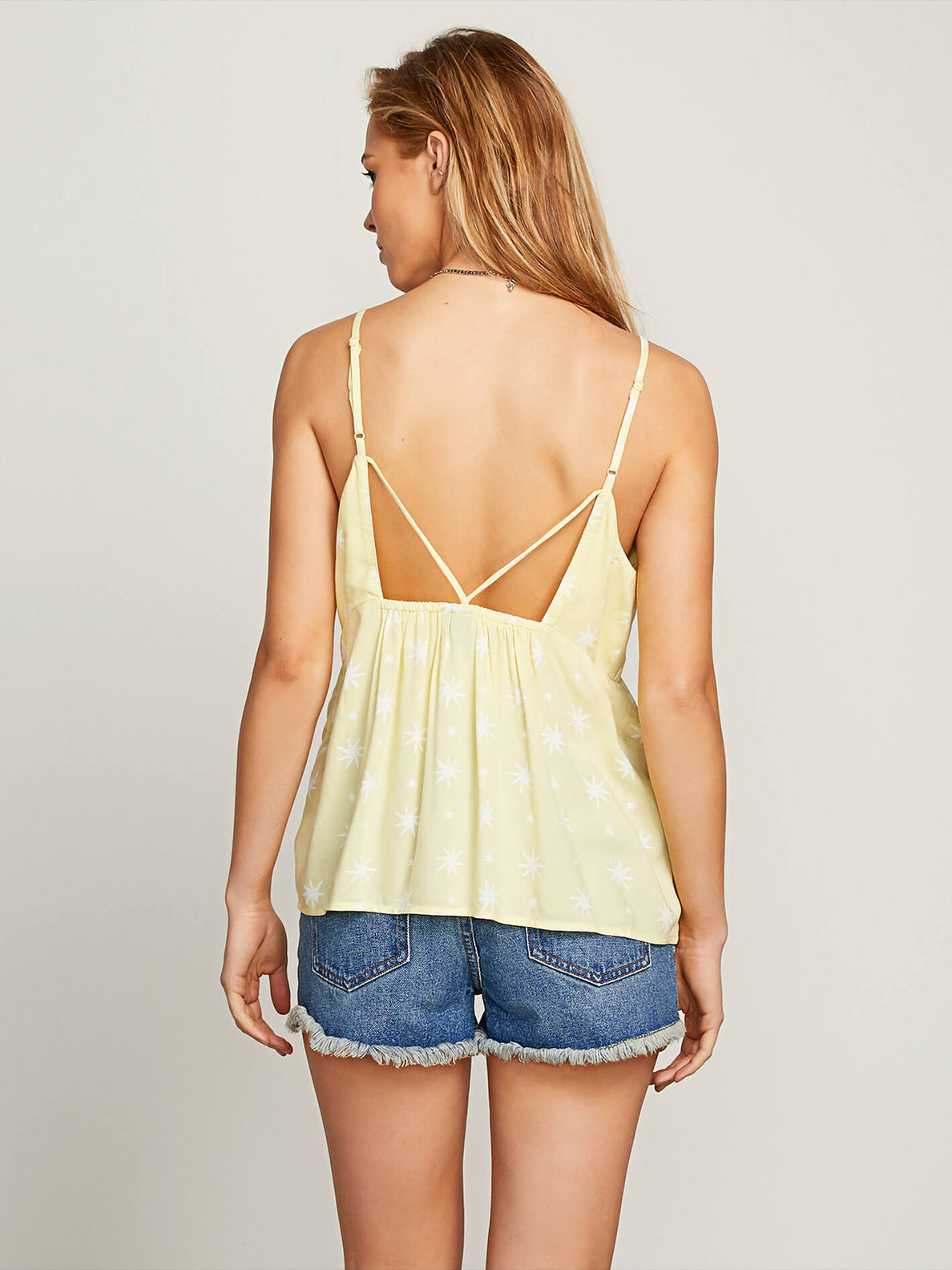 Things Change Cami In Faded Yellow, Back View