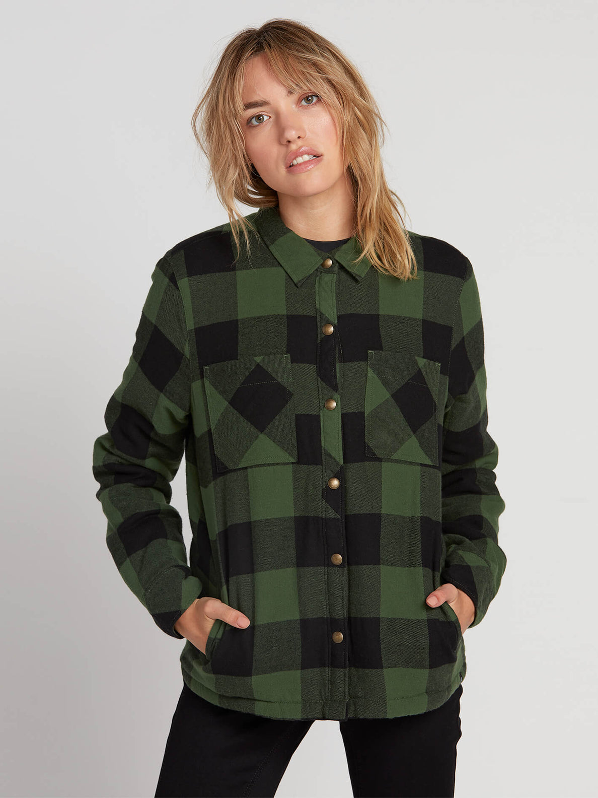 Plaid About You Long Sleeve - Green