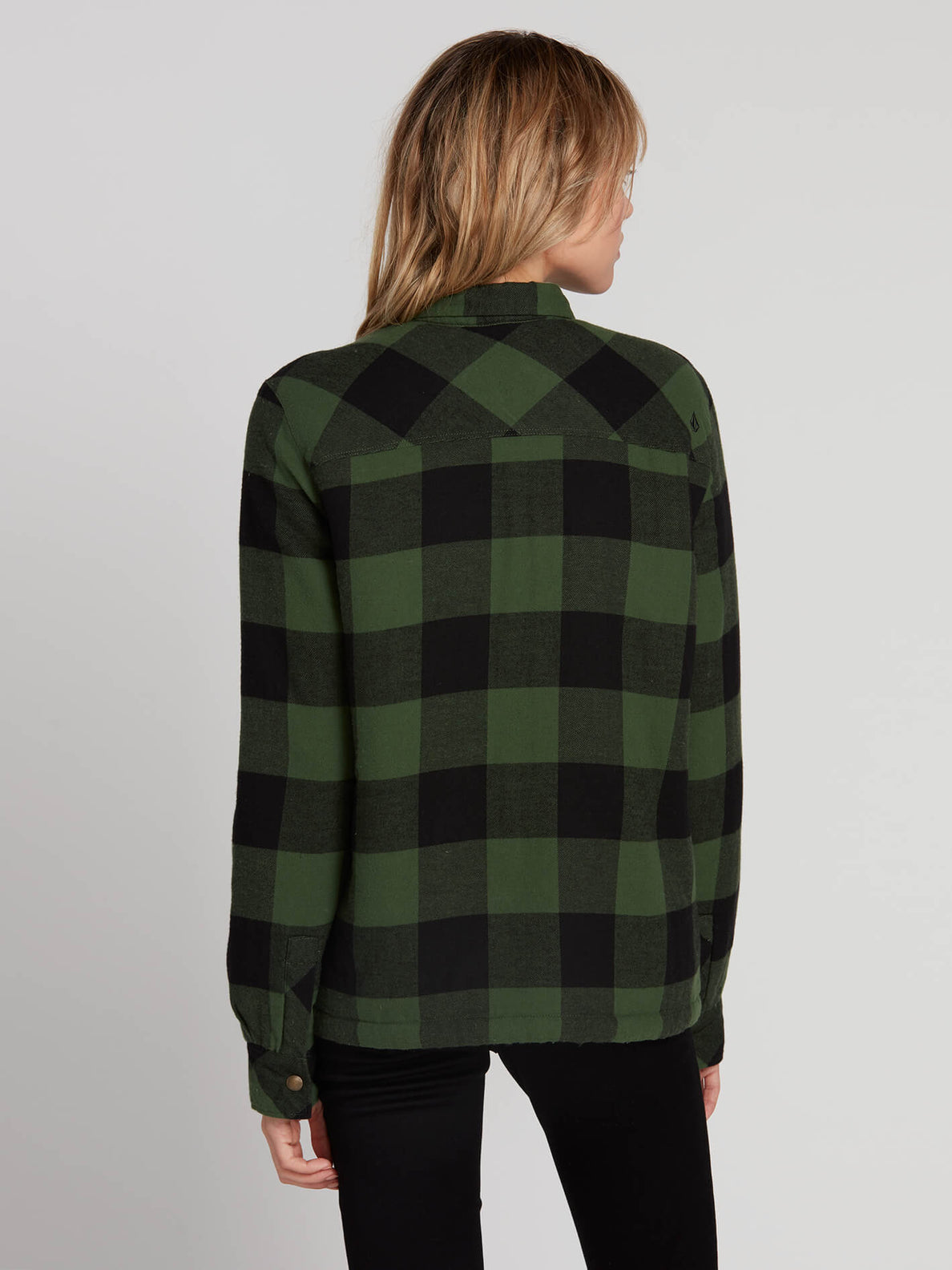 Plaid About You Long Sleeve - Green (B0531812_GRN) [B]
