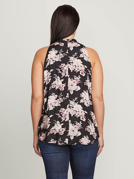 <3 Of Stone Top In Black Combo, Back Extended Size View