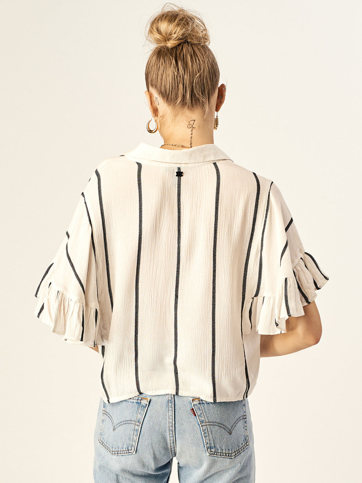 Cheap Frillz Top In Star White, Back View