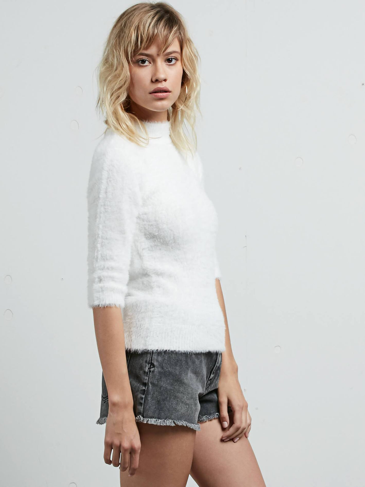Bunney Riot Sweater In Star White, Alternate View