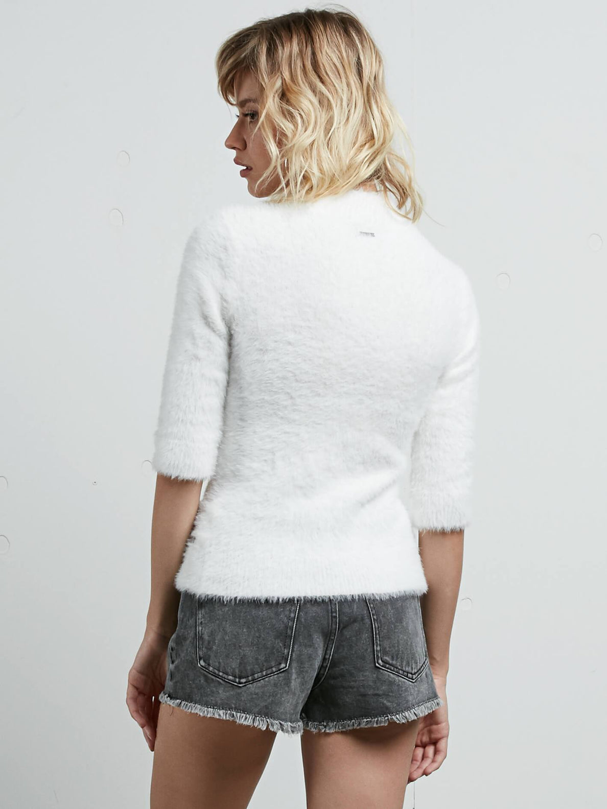 Bunney Riot Sweater In Star White, Back View