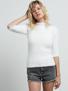 Bunney Riot Sweater In Star White, Front View