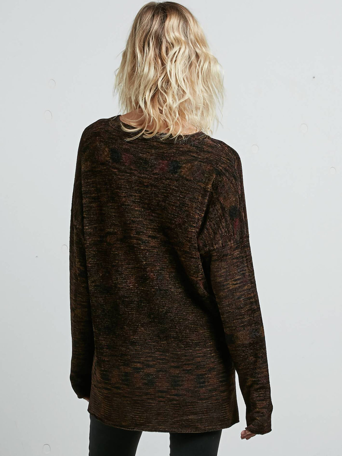Yarn Moji Sweater In Black Combo, Back View