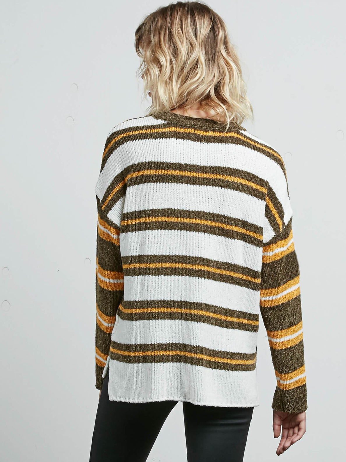 Yarn Moji Sweater In Dark Camo, Back View