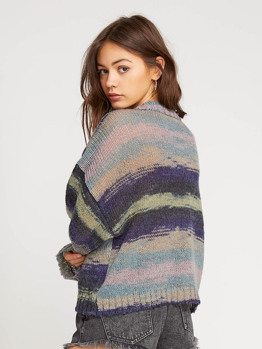 Daze Go By Sweater In Multi, Back View